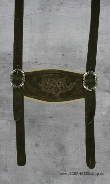 Steghosenträger aus Ziegenleder
