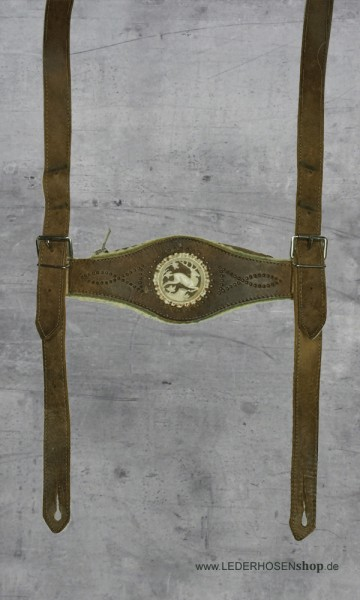 Steghosenträger mit Hirschmotiv