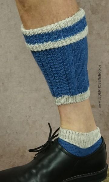 Loferl in der Farbe blau/weiß